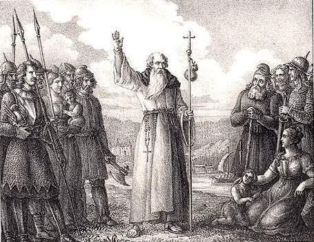 Saint Ansgar, gravure d'Hugo Hamilton