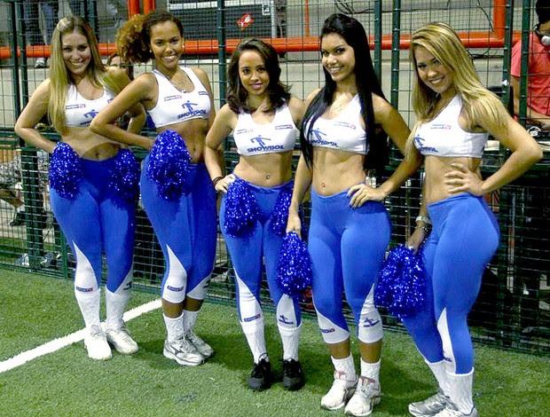 showgirls partida Showbol animadores (Foto: Ricardo Cassiano / Divulgação)