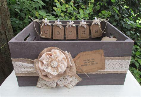Bushel Crate Wedding Card Holder Post Box