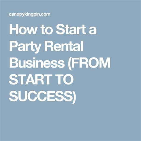How to Start a Party Rental Business (FROM START TO