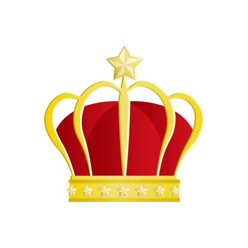 星の飾りが施された王冠のイラスト 無料商用可能王冠クラウン素材