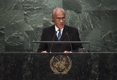 SAMIUELA 'AKILISI POHIVA, Prime Minister of Tonga