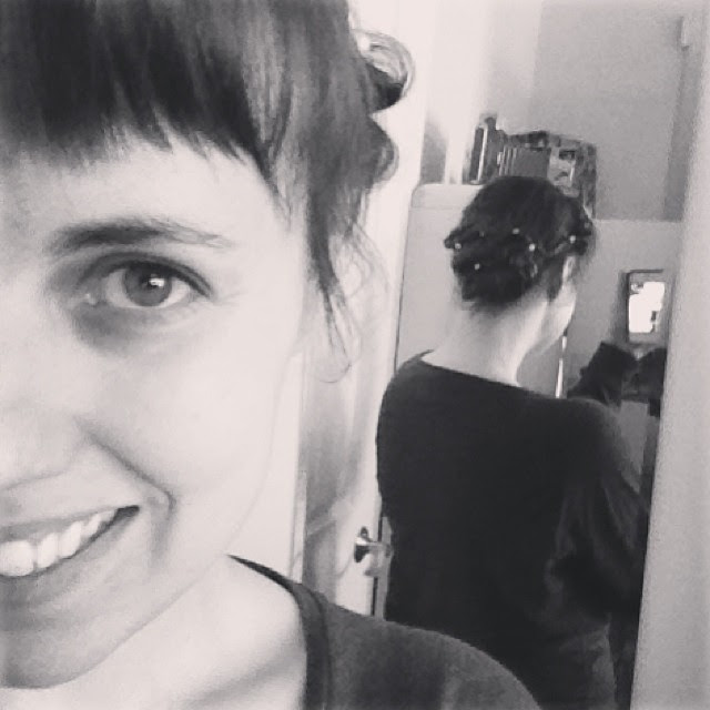 My mom and I did a trial run of my wedding hairstyle today. Thanks, Mum!