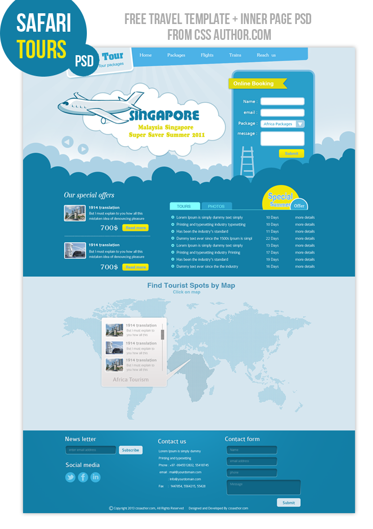 20 beautiful web design template psd for free download - Home design websites free ...