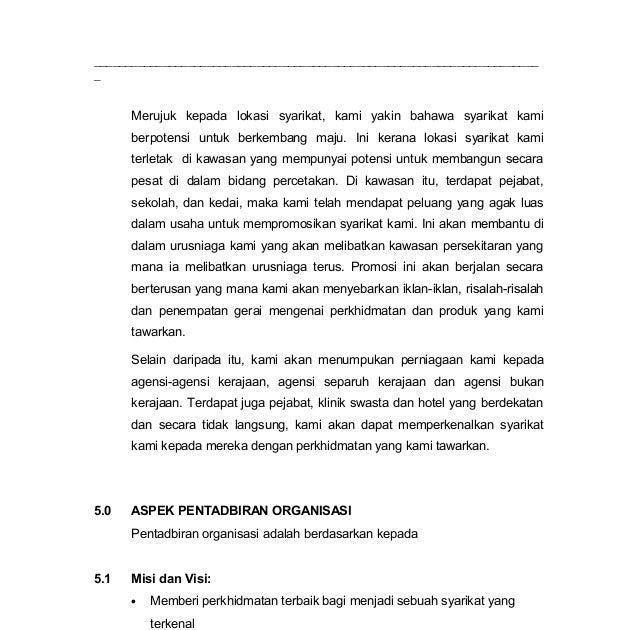 Visi Misi Dan Objektif Perniagaan Restoran Makanan Malayxana