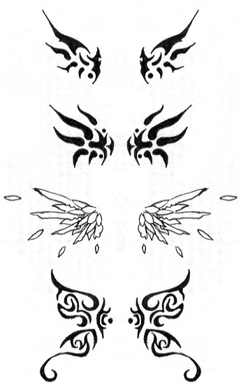 Zodiac Tattoo Designs Design Tribal Butterfly Wings Tattoos Good