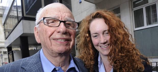 Rupert Murdoch y Rebekah Brooks