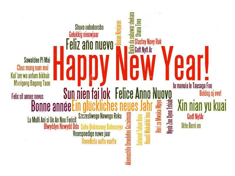 Resultado de imagem para feliz ano novo ingles se escreve