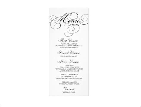 15  Wedding Menu Card Designs   Design Trends   Premium