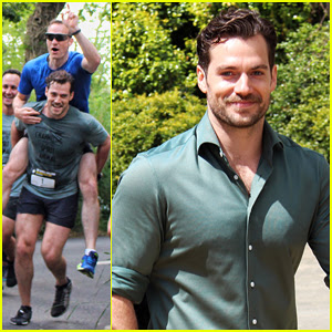 Henry Cavill Gets Sweaty For Durrell Challenge Road Race!