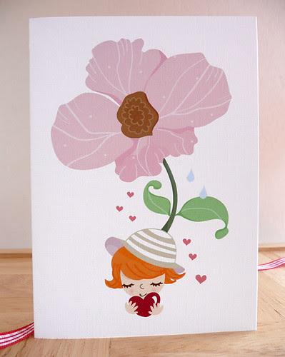 Sweet Me Flower Girl card design