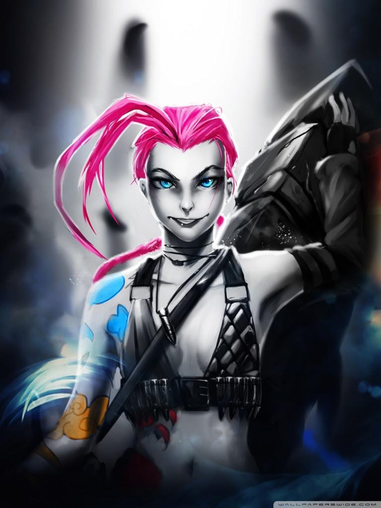 Jinx League Of Legends Ultra Hd Desktop Background Wallpaper For