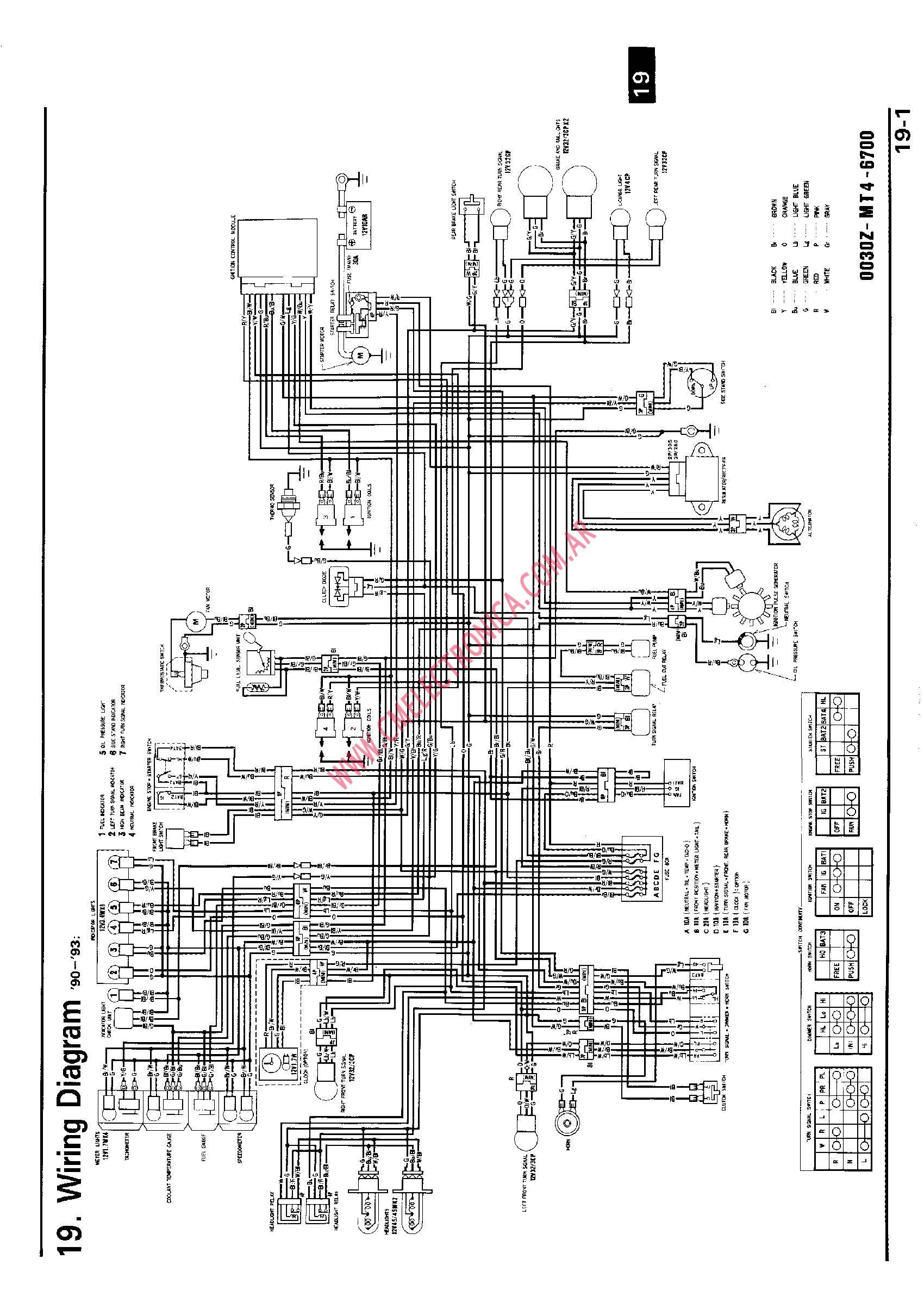 Autosportswiring  95 Vfr 750 Honda Engine Diagram