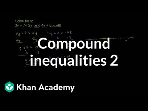 Compound Inequalities And Algebra Video Khan Academy