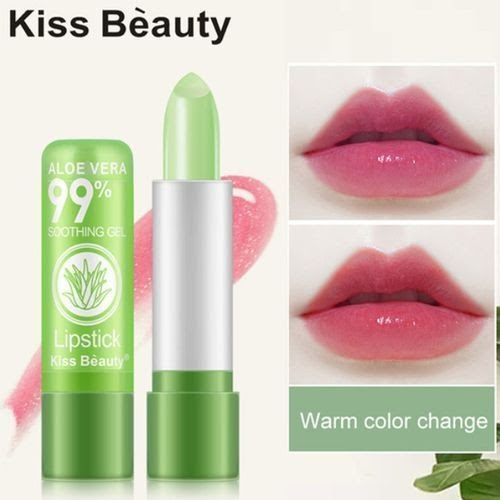 Kiss Beauty -Lips Makeup Waterproof Long Lasting Pink Aloe Vera