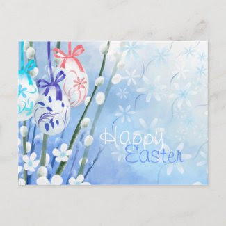 Floral Easter Eggs - Customized postcard