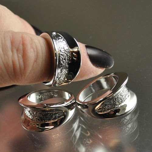 s30996 Findings - Size 6 Flared Channel Ring - Silver Plated (1)