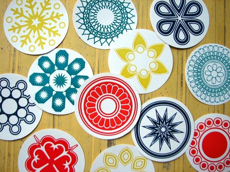 12 Large Decorative Circles -Fall Palette
