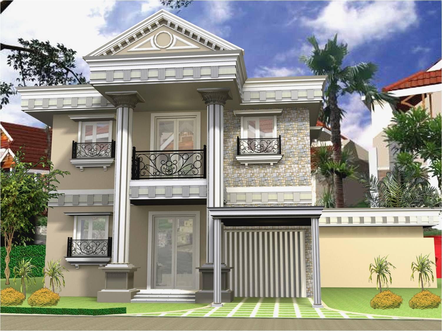 Desain Rumah 2 Lantai type 45 Gaya Mediterania ~ Gambar ...