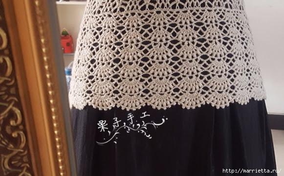 White openwork crochet blouse.  Diagrams (22) (581x361, 153Kb)