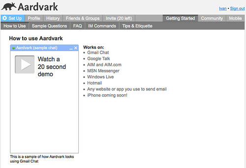 Aardvark - Getting started