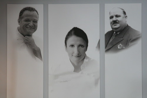 Anne-Sophie Pic with her dad and granddad