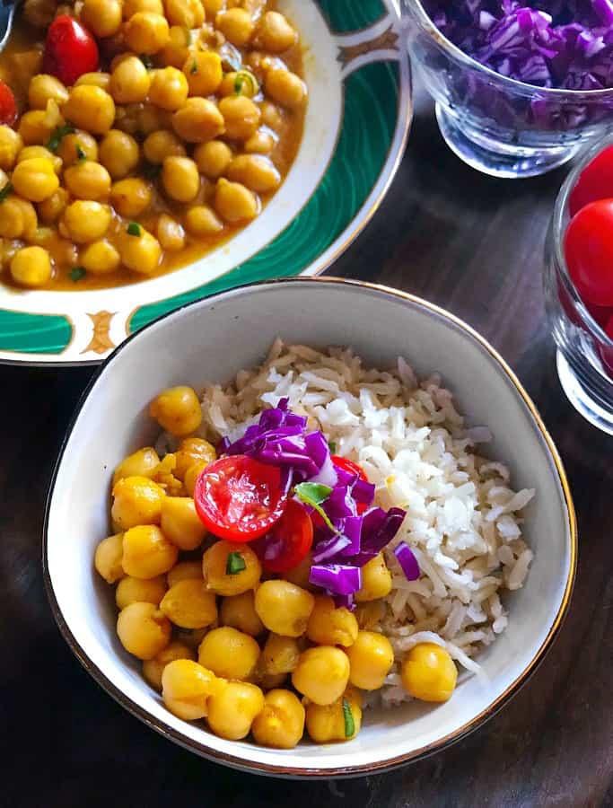 Instant Pot Chana Masala (Light Punjabi Chole) (V+GF) #chole