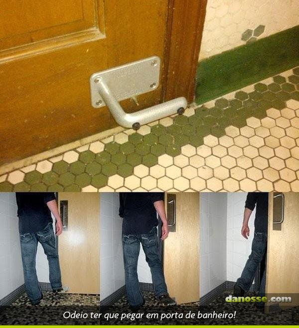 Puxador de pé para banheiro!