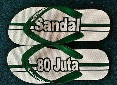 gambar sandal jepit ukir  motif unik terbaru