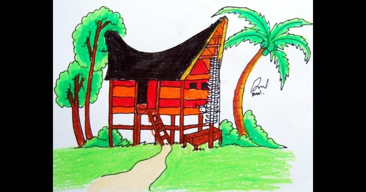 700 Gambar Rumah Adat Toraja Kartun Hd Terbaik Gambar Rumah