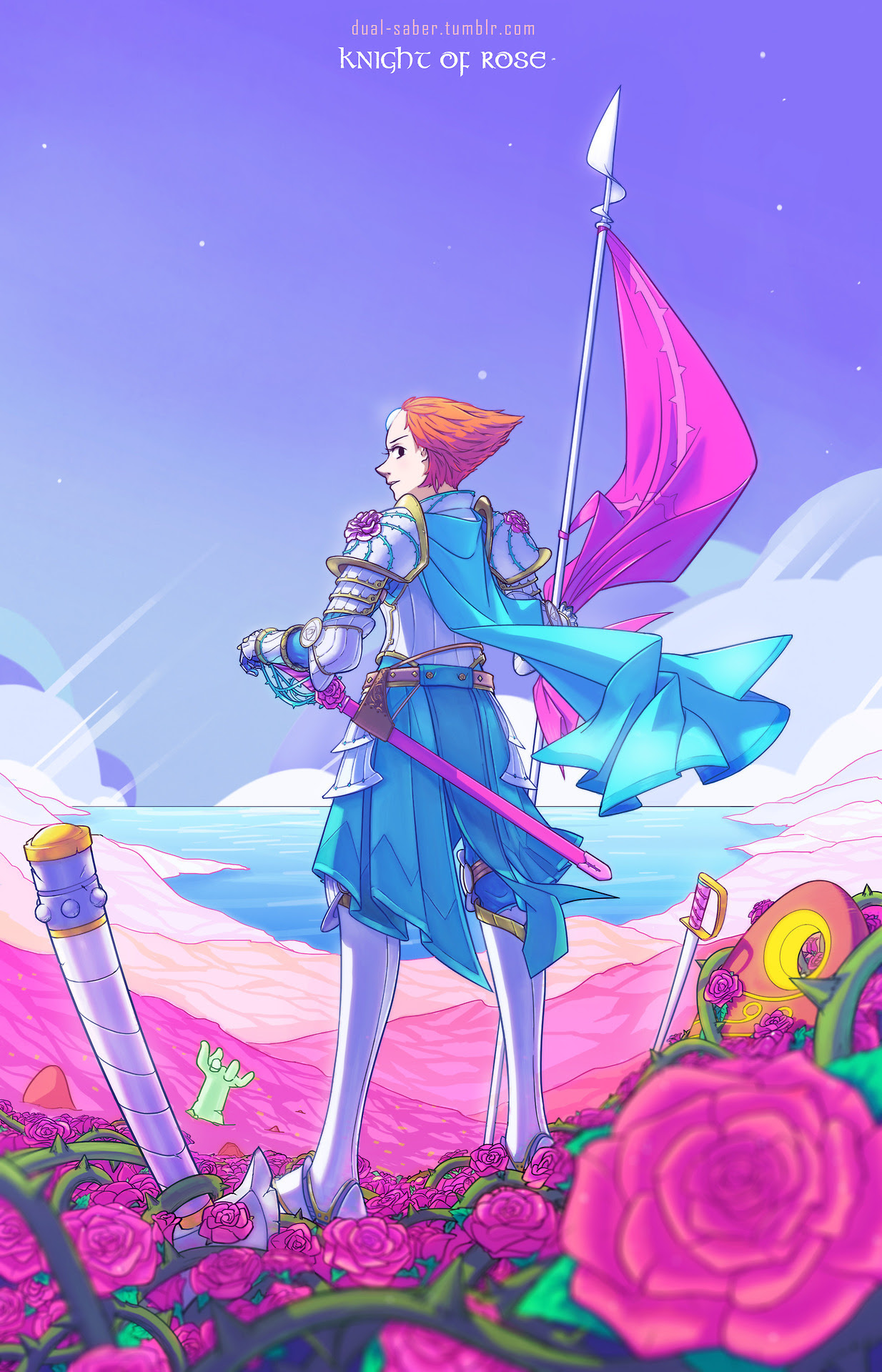 Pearl is brave and devoted Pearl is precise and elegant Pearl is the Knight of Rose