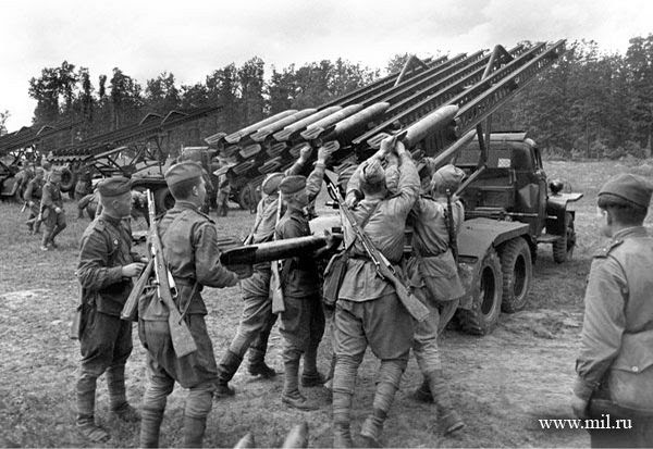 Loading Katyusha. The 1st Ukrainian Front, 29 June 1944. Photo: A.Shaykhet