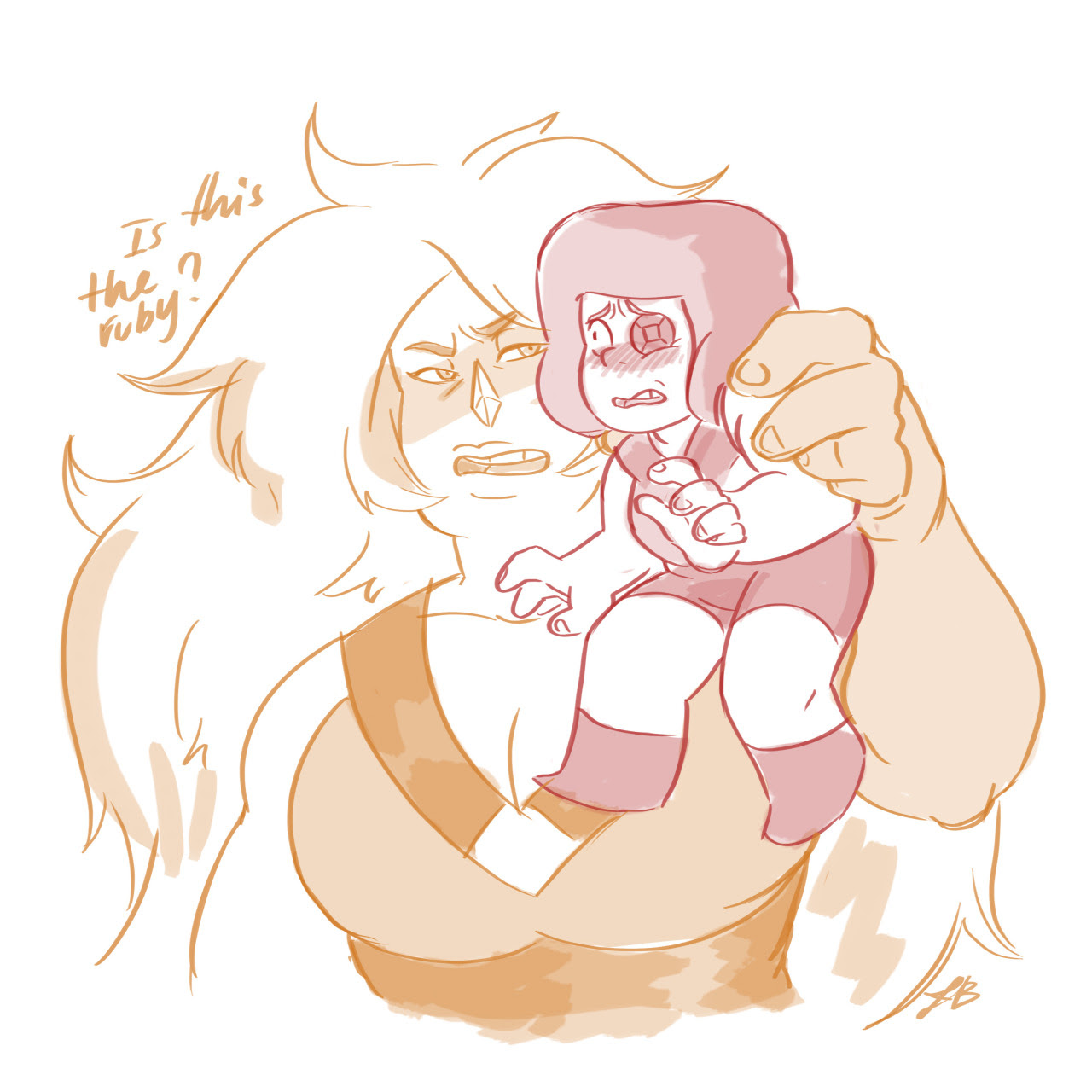 When you don't feel good warm up with a cute little ruby and Jasper