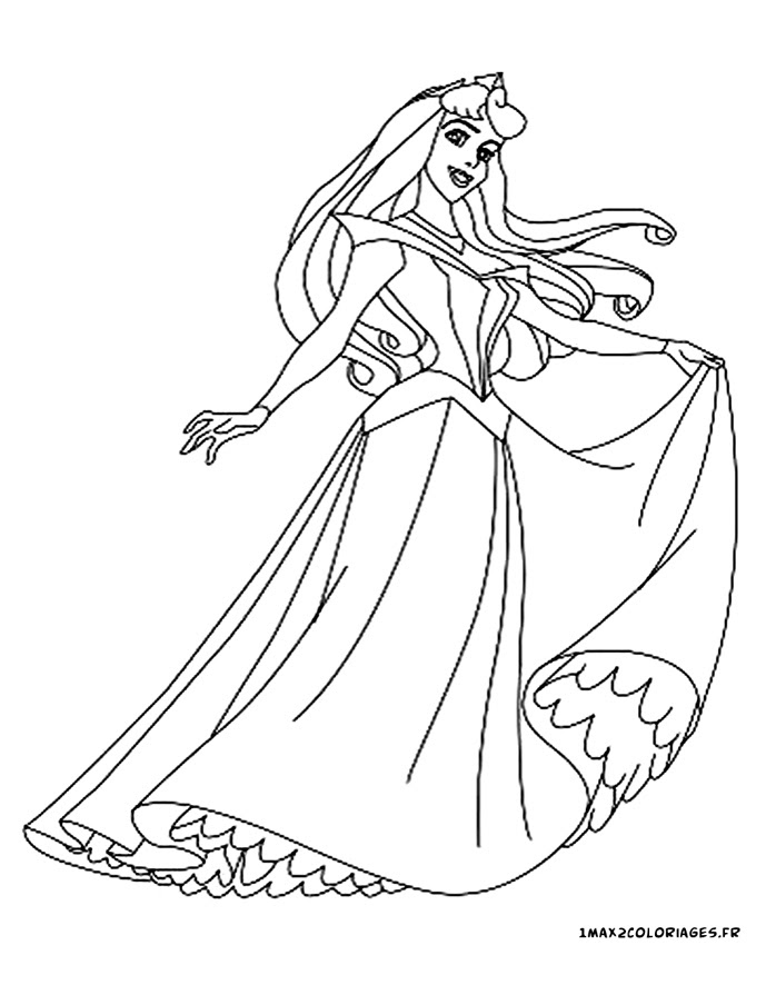 Coloriages De La Belle Au Bois Dormant De Walt Disney Princesse
