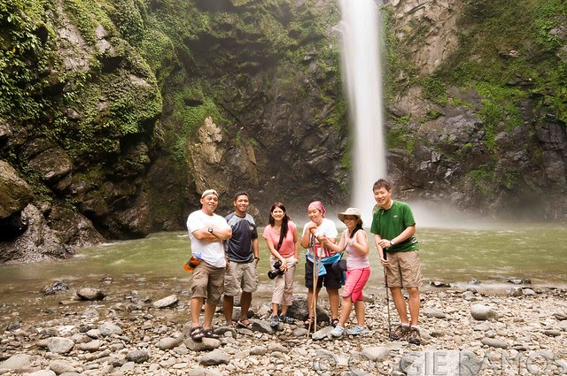 Batad - Group Hug at Tappia Falls