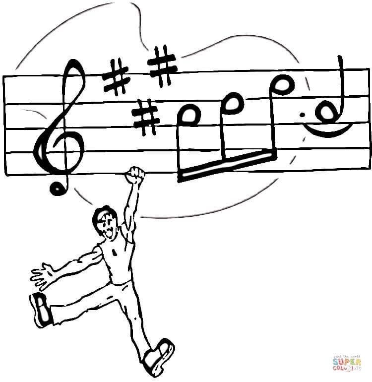 Disegni Note Musicali Da Colorare Per Bambini