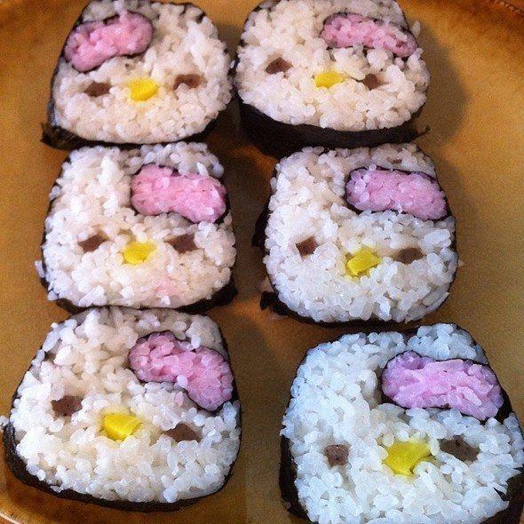 aaaaaaaaaaaaaaaaaaaah!!!comidacomidacomida de hello kitty!!  Hello Kitty Sushi