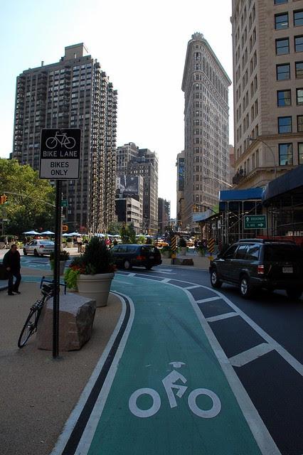 Bike Lane on Broadway