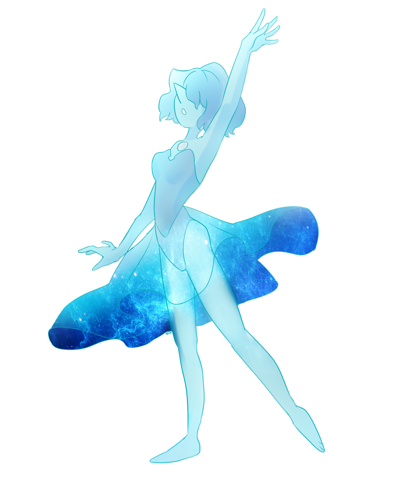 Blue Pearl doodle
