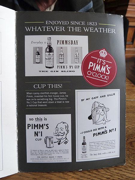 it's Pimm's o'clock