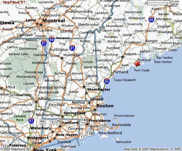 Road Map Eastern Us States