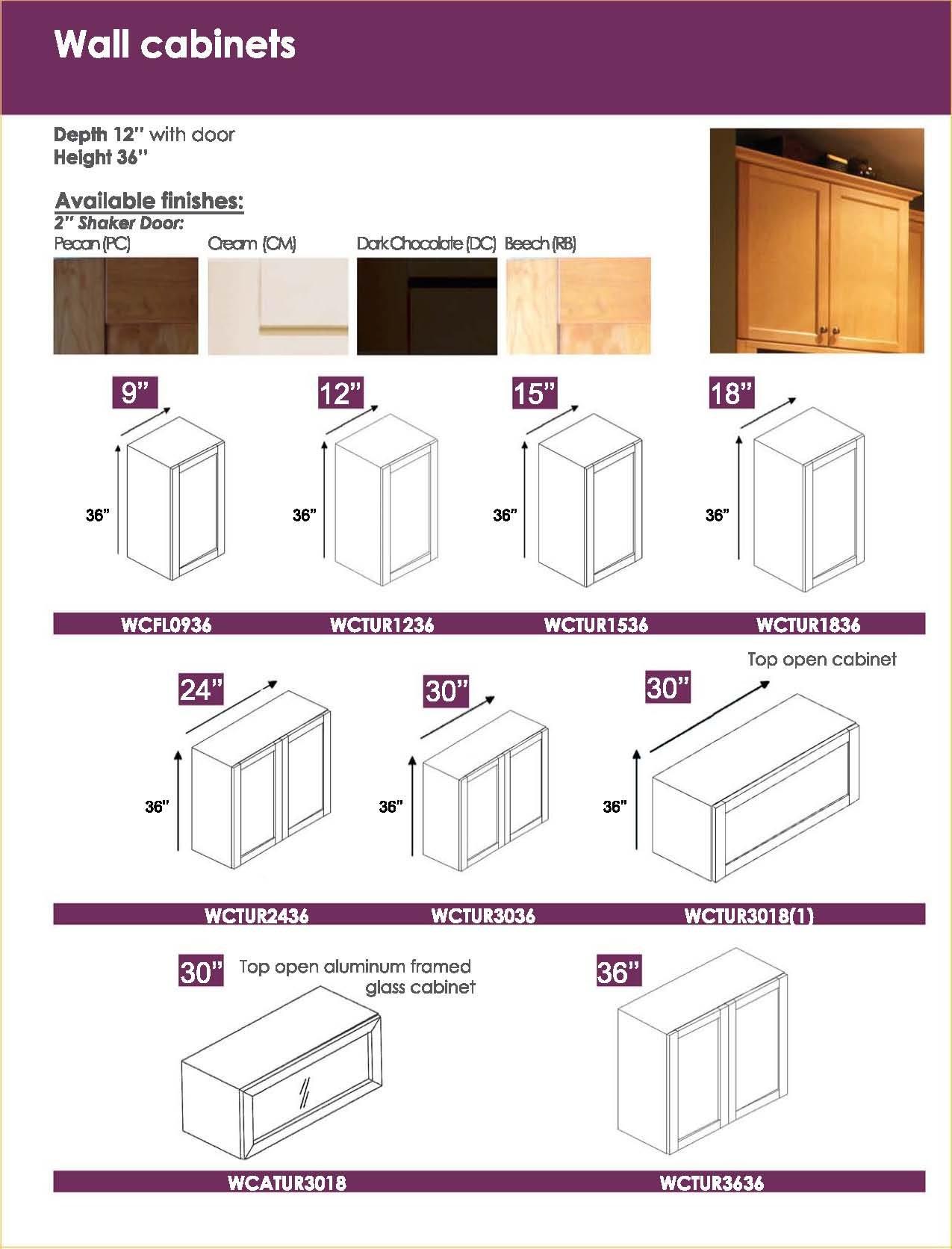 Kitchen Wall CabiDimensions