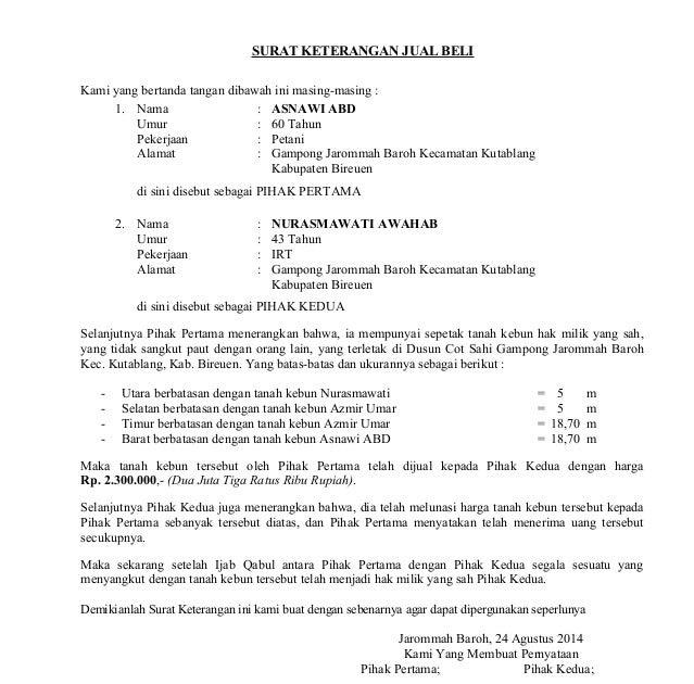 83 Contoh Surat Wakaf Tanah Wakaf Contoh Tanah Surat