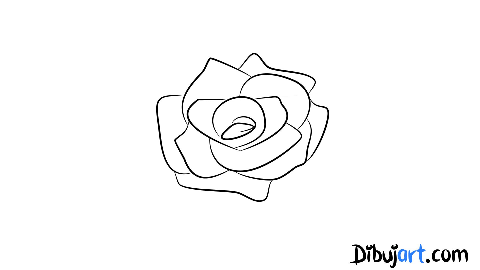 Como Dibujar Una Rosa Sencilla Y Facil 6 Serie De Dibujos De
