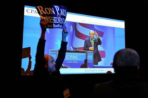 Ron Paul at the Conservative Political Action Conference in Washington on Feb. 11, 2011.