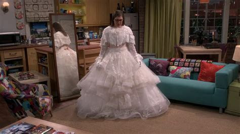 Sheldon loves Amy in her wedding dress The Big Bang Theory
