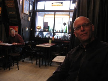 At a famous Oude Genever pub on Begijnensteeg...