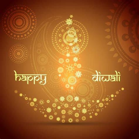 Free vector floral art pattern diya design happy diwali