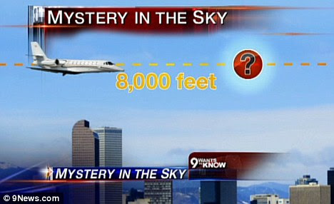 Trouble in the air: The object reportedly came dangerously close to the private jet, but it never appeared on radar