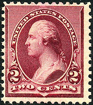 English: US Postage stamp: George Washington. ...